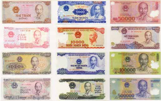 Vietnamese Currency There Are Coins For The Lower Denominations However They Rarely Used