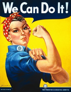 "Vintage Image of the ""We can do it!"" Rosie the Riveter Poster by"